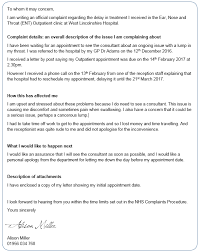 Complaints Letter To Hospital tips for writing a health complaint blackpool advocacy hub