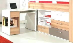bureau ado design lit bureau enfant lit enfant mezzanine cargo blanc 3