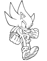 free sonic coloring pages print