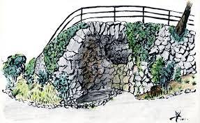 dry stone wall sketch sketchblog of nela dunato cwtam