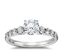 5 engagement ring graduated side engagement ring in 14k white gold 2