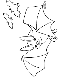 Halloween Bat Coloring Pages by Three Bats
