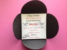 graduation cap invitations personalized graduation hat invitation meylah