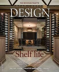 statement wine cellar graces cover of great lakes by design