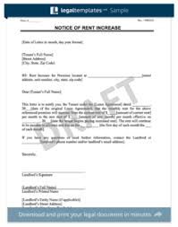 Rent Increase Letter Ma make a free lease termination letter in minutes templates