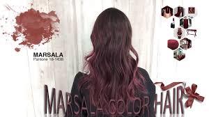 marsala color hair a cor do ano youtube