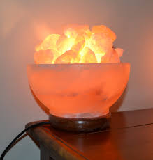 Himalayan Salt Light by Himalayan Salt Lamp Bowl Mood Enhancing Breathing Mystic Wish