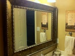 White Framed Oval Bathroom Mirror - framed bathroom mirror ideas grey finish varnished wooden vanity