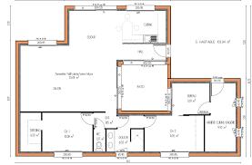 plans cuisine conception de plan maison gratuit avec patio plain pied ooreka