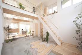 white wall paint decoration in natural japanese interior has