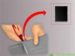 Repair Ceiling Hole by 5 Ways To Repair Holes In Drywall Wikihow