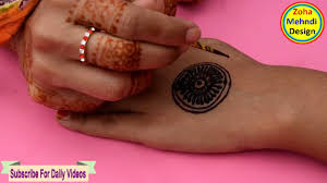 circle net floral mehndi design for hands for eid special zoha