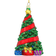 ribbon glass tree ornament 1190073 baubles n bling