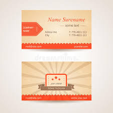 Business Cards Front And Back Vector Retro Business Card Front And Back Side Royalty Free Stock