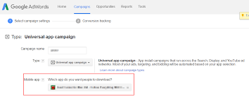 ad tracking android adwords caign android configuration api help