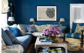 blue and white family room house beautiful pinterest house beautiful mark d sikes home once more pinterest house