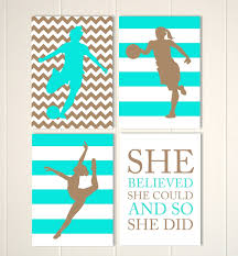 soccer girl room decor basketball girl wall art dance wall zoom