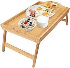 amazon com greenco bamboo foldable breakfast table laptop desk