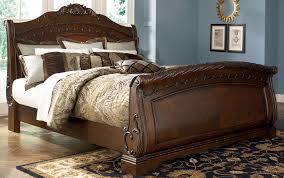 Wooden King Size Bed Frame Bedroom Wooden King Size Sleigh Bed For Beds Frame Ideas