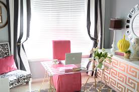 Pink And White Curtains Charming Pink Interior Concept Combined With Black And White