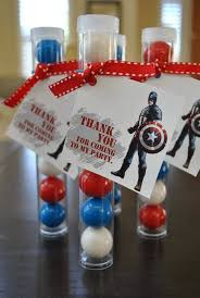 Gumball Party Favors 21 Captain America Party Ideas Spaceships And Laser Beams