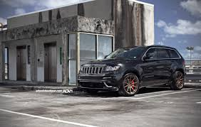 gray jeep grand cherokee with black rims jeep grand cherokee srt8 adv10 1 m v1 concave wheels matte