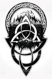 celtic tattoo and tshirt design celtic knot tattoo mountain forest