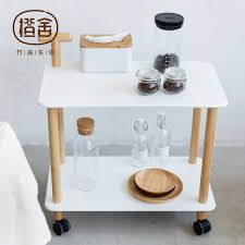 multipurpose table with storage kitchen trolley bamboo coffee table on the wheel storage holder