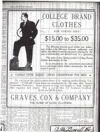 Comfort Man Lexington Ky Viewing Photo Graves Cox Company Ad Famous Clothing Company