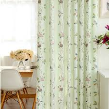 Purple Curtains For Nursery Fresh Light Green Bird Leaf Polyester Nursery Curtains
