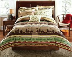 rustic lodge log cabin style bedding 8 pce bed in a bag comforter sheet set