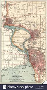 Cambria Map Map Of Buffalo And The Niagara Frontier Stock Photo Royalty Free