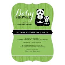Panda Baby Shower Invitations - asian baby shower invitations u0026 announcements zazzle