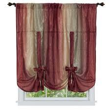 achim semi opaque ombre 50 in w x 63 in l tie up shade curtain