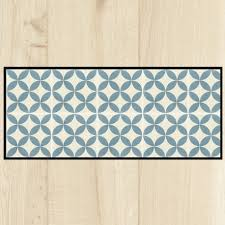tapis de cuisine tapis cuisine carreaux ciment bleu