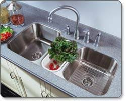 Houzer MGT Medallion Gourmet Series Undermount Stainless - Triple sink kitchen
