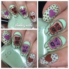 ehmkay nails pb u0026 j love valentine u0027s day nail art
