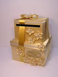 wedding gift gold wedding card box sweet 16 gift card box 2 tier gold money card box