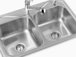 sterling kitchen sinks southhaven top mount double equal kitchen sink 33 x 22 x 8
