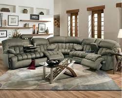 L Shaped Sofa With Recliner L Shaped Broken White Leather Sectional Sofa With Recliner And