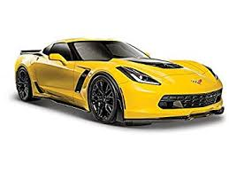yellow corvette c7 amazon com 2015 chevrolet corvette c7 z06 yellow 1 24 by maisto