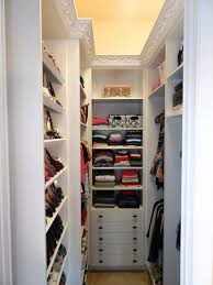 Small Walk In Closet Design Idea With Shoe Storage Shelving Unit I Like The Idea Of The Moulding And Uplighting Don U0027t Like This