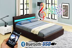 4ft Ottoman Storage Beds by Romero Ottoman Music Storage Bed Led Bluetooth Usb Leather