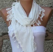 cotton gift ideas celebrations fashion white scarf cotton cowl scarf bridal
