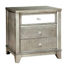 Metal Nightstands With Drawers Decoration Metal And Glass Nightstands