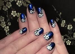 design selber machen nageldesign blumen für kurze nägel zum selber machen winter nail