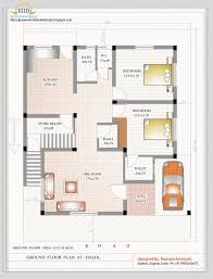 480 square feet modern bedroom duplex house plans india home sq ft indian style