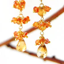 citrine earrings orange sapphire earrings with citrine holton designs