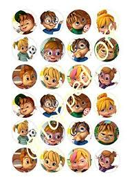 alvin and the chipmunks cake toppers 24 x 1 5 3 8cm alvin the chipmunks edible cake toppers