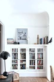 Billy Bookcase With Glass Doors Bookshelf With Glass Doors Shelves Glass Doors Billy Bookcase